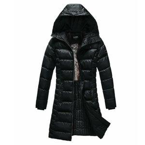Elora Women's Black Hooded Puffer Coat